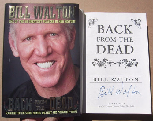 Bill Walton UCLA Celtics HOF Signed Book Back From The Dead