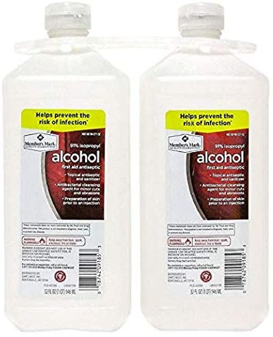 91% Isopropyl Alcohol (32 fl. oz, 2 pk.)