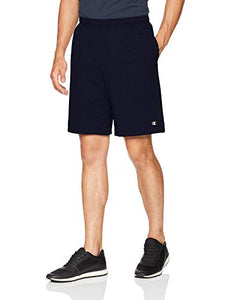 Champion Men's Jersey Short With Pockets, Navy, Small 85653