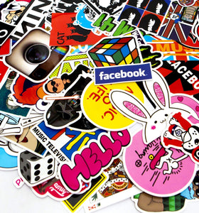 50-Pcs Featured Stickers(50~500 Pcs/Pack),Suitable for children and adults of all ages,Fast Shipped by . Decals Vinyls for Laptop,Kids,Cars,Motorcycle,Bicycle,Skateboard Luggage,Bumper