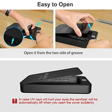 Load image into Gallery viewer, UV Cell Phone Sanitizer, Portable Smart Phone Sterilizer, Aromatherapy Function Phone Disinfector, UV Light Phone Cleaner with USB Charging for iOS Android Mobile Phone Toothbrush Jewelry Watch-Black