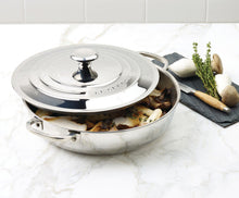 Load image into Gallery viewer, Le Creuset Braiser Stainless Steel   4.8 L Diameter 30 cm