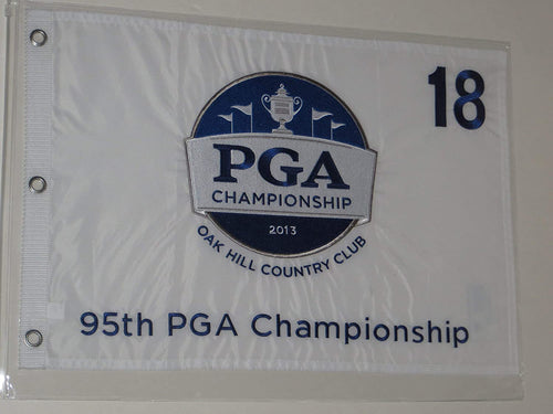 2013 PGA Championship golf Flag Oak Hill embroidered logo