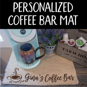 Personalized Coffee Bar Placemat