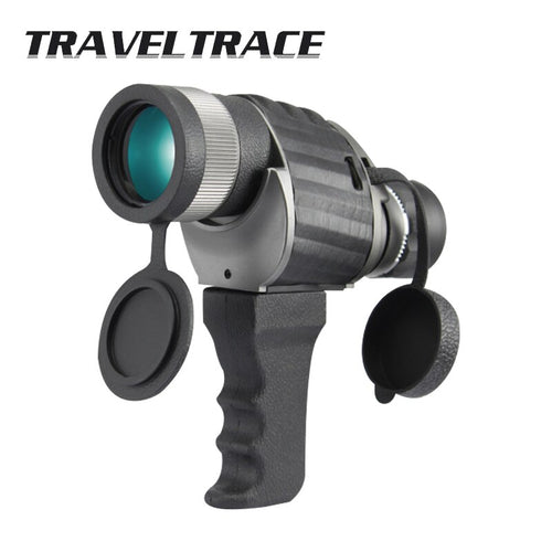 Powerful 8X40 Telescope with Handle Portable Bracket Monocular Military Telescopio Monokular Zoom High Definition Scope Optical