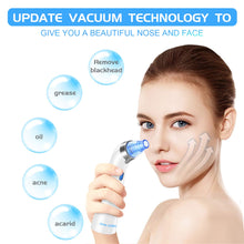 Load image into Gallery viewer, Blackhead Remover Vacuum - June Julien Facial Pore Cleanser Electric Acne Comedone Extractor Kit USB Rechargeable Blackhead Suction Tool with LED Display for Facial Skin(Blue)