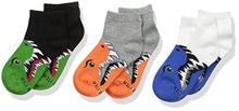 Load image into Gallery viewer, Stride Rite Boys' Little 3pk Faces Comfort Seam Quarter, Animal Bite, Sock: 8-9.5 / Shoe: 13-4 23.50143.04.010.97.15