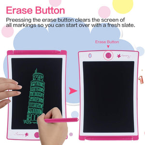 LCD Writing Tablet, Electronic Drawing Board and Doodle Board Gifts for Kids at Home and School (Pink)