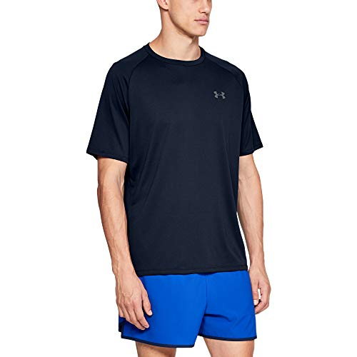 Under Armour Men's Tech 2.0 Short Sleeve T-Shirt , Academy Blue (408)/Graphite , Small 1326413