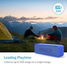 Load image into Gallery viewer, Anker Soundcore Bluetooth Speaker with 24-Hour Playtime, 66-Feet Bluetooth Range & Built-in Mic, Dual-Driver Portable Wireless Speaker with Low Harmonic Distortion and Superior Sound - Blue
