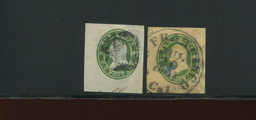 U32-U33 Washington RARE Set of 2 Used Cut Squares (Stock U33-A10)