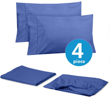 Load image into Gallery viewer, Sweet Home Collection Quality Deep Pocket Bed Sheet Set - 2 EXTRA PILLOW CASES, VALUE, Twin XL, Royal Blue, 4 Piece
