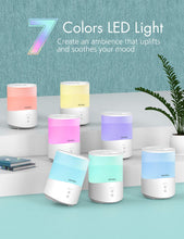 Load image into Gallery viewer, Homasy Cool Mist Humidifier, 2.5L Essential Oil Humidifiers with 7-Color Mood Lights, Top Fill Humidifier for Bedroom, Baby Humidifier with Adjustable Mist Output, Sleep Mode, Auto Shut Off
