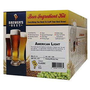 Brewer's Best - Home Brew Beer Ingredient Kit (5 Gallon), (American Light) 8Z-F4VI-1U87 Yellow