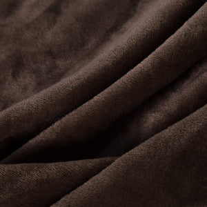 Bedsure Fleece Blanket Throw Size Brown Lightweight Super Soft Cozy Luxury Bed Blanket Microfiber