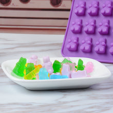 Load image into Gallery viewer, Gummy Bear Candy Molds Silicone - Chocolate Gummy Molds with 2 Droppers Nonstick Food Grade Silicone Pack of 4