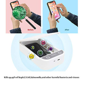 JITIFI UV Cell Phone Smart Phone Sanitizer,UV Lights&USB Charging Cell Phone Sanitizer Sterilizer Cleaner Aromatherapy Function Disinfector for All iPhone Android Cellphone Watch Knives and Jewelry