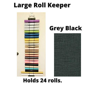 Vinyl Roll Holder by The Roll Keeper-Also For Diamond Painting, 24 Roll Capacity, Gray-Black Large