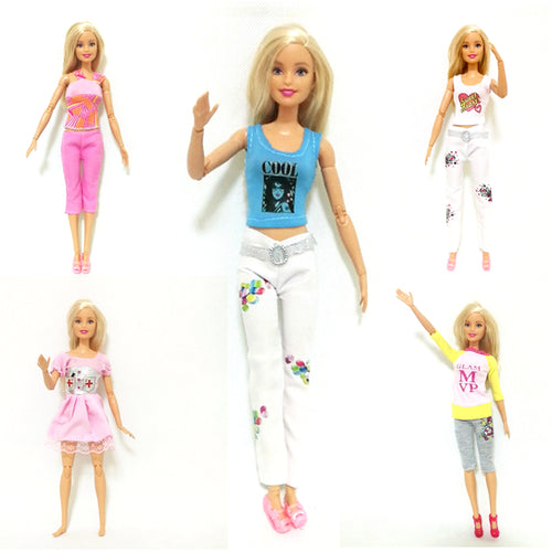 Summer New Fashion Dress Outfit Sets for 1:6 30cm BJD FR Doll Clothes Dollhouse Play Accessories