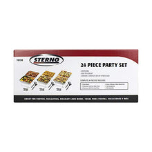 Load image into Gallery viewer, Sterno Products 24-Piece Disposable Party Set 70150 24 Pieces Silver