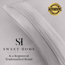 Load image into Gallery viewer, 1500 Supreme Collection Bed Sheets Set - Luxury Hotel Style 4 Piece Extra Soft Sheet Set - Deep Pocket Wrinkle Free Hypoallergenic Bedding - Over 40+ Colors - King, Silver