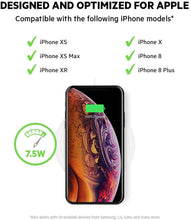 Load image into Gallery viewer, Belkin Boost Up Wireless Charging Pad 7.5W – Fast iPhone Wireless Charger for iPhone XS, XS Max, XR, X, 8, 8 Plus, AirPods 2 (Compatible w/ Samsung, LG, Sony, more)