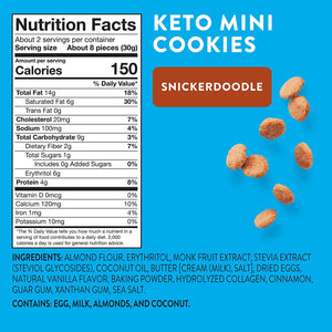 HighKey Keto Snacks Low Carb Food Snickerdoodle Cookie - Paleo, Diabetic Diet Friendly - Gluten Free, Low Sugar Dessert Treats & Sweets - Ketogenic Products Healthy Protein Cookies