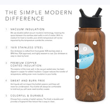 Load image into Gallery viewer, Simple Modern 22 oz Summit Water Bottle with Straw Lid - Gifts for Kids Hydro Vacuum Insulated Tumbler Flask Double Wall Liter - 18/8 Stainless Steel Pattern: Wood Grain