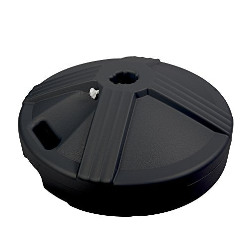 US Weight Durable 50 Pound Umbrella Base Designed to be Used with a Patio Table (Black) FUB1B 6 1/4
