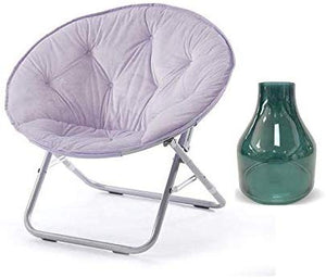 Urban Shop Faux Fur Saucer Chair with Metal Frame, One Size, Teal Vase (Lavendar)