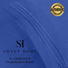 Load image into Gallery viewer, 1500 Supreme Collection Bed Sheets Set - Premium Peach Skin Soft Luxury 4 Piece Bed Sheet Set, Since 2012 - Deep Pocket Wrinkle Free Hypoallergenic Bedding - Over 40+ Colors - King, Royal Blue