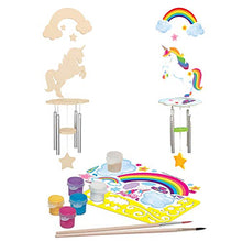 Load image into Gallery viewer, MasterPieces Works of Ahhh Real Wood Large Acrylic Paint & Craft Kit, Wind Chime with Unicorn, Mom's Choice Award, for Ages 4+ 21638 N/A One Color