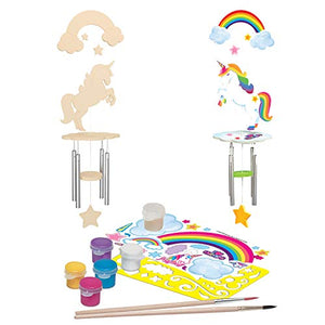 MasterPieces Works of Ahhh Real Wood Large Acrylic Paint & Craft Kit, Wind Chime with Unicorn, Mom's Choice Award, for Ages 4+ 21638 N/A One Color