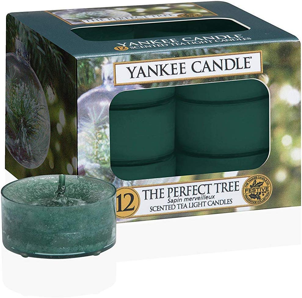 Yankee Candle The Perfect Tree Tea Light Candle, Tealight, Green