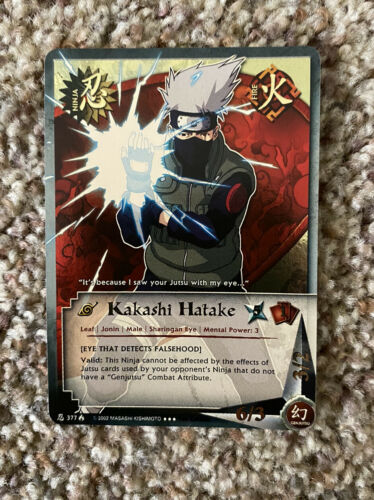 Naruto CCG Kakashi Hatake Super Rare Hard To Find Mint Condition 1st Edition