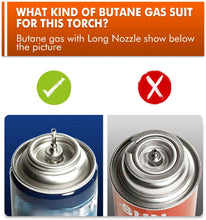 Load image into Gallery viewer, TBTEEK Butane Torch, Kitchen Torch Cooking Torch with Safety Lock & Adjustable Flame for Cooking, BBQ, Baking, Brulee, Creme, DIY Soldering(Butane Not Included)