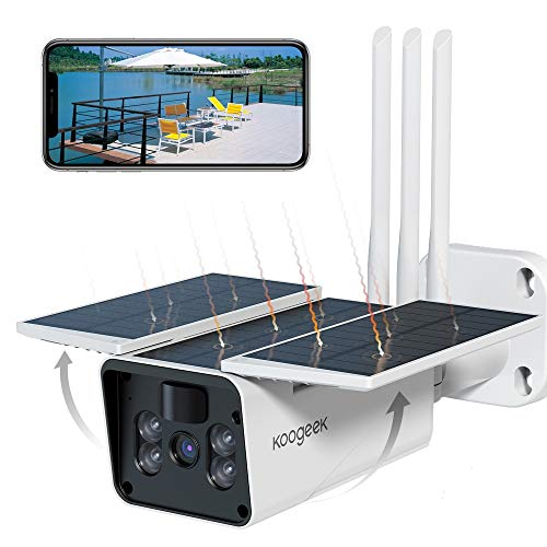 Koogeek 【Latest Style】 Wireless Outdoor Security Camera,Solar Powered...