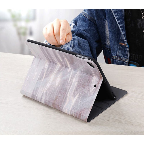 Luxury Case For iPad 10.2 2019 Marble Texture Flip Stand Auto Wake Cover Smart Pu Leather Case for Apple iPad 10.2 Inch