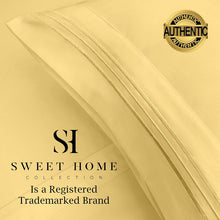 Load image into Gallery viewer, 1500 Supreme Collection Bed Sheets Set - Premium Peach Skin Soft Luxury 4 Piece Bed Sheet Set, Since 2012 - Deep Pocket Wrinkle Free Hypoallergenic Bedding - Over 40+ Colors - King, Yellow