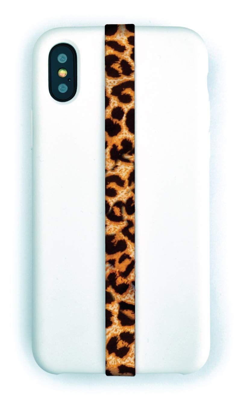 Phone Grip Finger Strap Accessory for Mobile Cell Phone, by Phone Loops (Leopard)