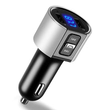 Load image into Gallery viewer, VR-robot Bluetooth FM Transmitter for Car, Wireless Bluetooth FM Radio Adapter Car Kit with Hands-Free Calling and 2 Ports USB Charger