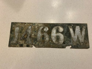 1905 to 1910 Wisconsin license Plate. Used Cond Rare No Dash Barn Find