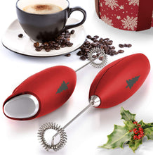 Load image into Gallery viewer, Zulay High Powered Milk Frother Handheld Foam Maker for Lattes - Whisk Drink Mixer for Bulletproof® Coffee, Mini Foamer for Cappuccino, Frappe, Matcha, Hot Chocolate by Milk Boss - Christmas Edition