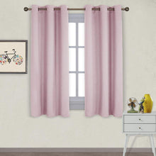 Load image into Gallery viewer, NICETOWN Nursery Essential Thermal Insulated Solid Grommet Top Blackout Curtains/Drapes (1 Pair,42 x 63 inches in Baby Pink)