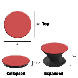 PopSockets: Collapsible Grip & Stand for Phones and Tablets - Red