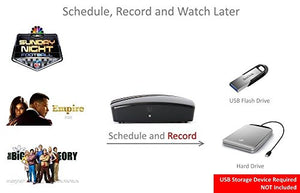WHY Pay for Cable? Use This Amazing eXuby Digital Converter Box for TV to View & Record HD Digital Channels for Free (Instant or Scheduled Recording, 1080P HDTV, HDMI Output, 7 Day Program)