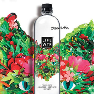 LIFEWTR, Premium Purified Water, pH Balanced with Electrolytes For Taste, 1000 mL (6 Count) (Packaging May Vary) 1000mL 6 Count