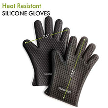 Load image into Gallery viewer, Cuisinart CGM-520 Heat Resistant Silicone Gloves, Black (2-Pack)