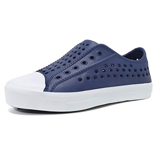 seannel Kids Slip-On Sneaker Lightweight Breathable Sandal Water Shoes Outdoor & Indoor-U819STLXS001-Blue-27 11