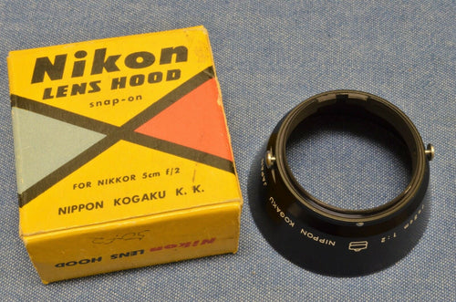 c 1950s RARE RANGEFINDER Nikon Snap-On NKK HOOD for RF NIKKOR 5cm f/2 NEW IN BOX